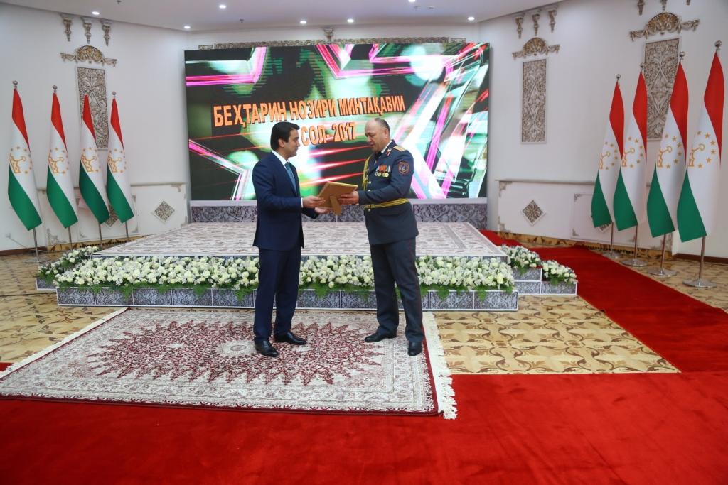 Раиси шаҳри Душанбе ғолибони озмуни «Беҳтарин нозири минтақавӣ»-ро қадршиносӣ намуд