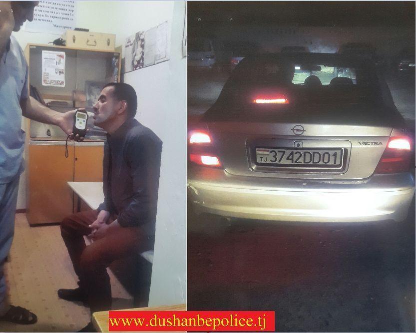Давоми ҳафта дар ҳудуди шаҳри Душанбе 6 ронандаи маст дастгир гардид